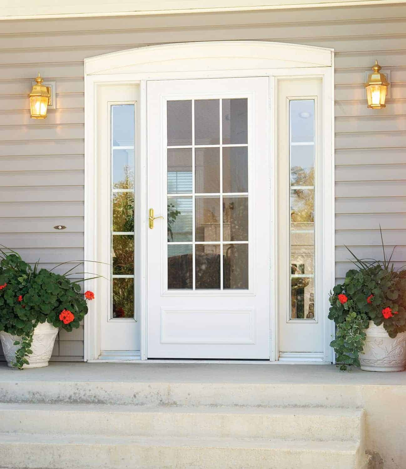 Chicago replacement storm doors custom replacement storm for Storm doors for french doors