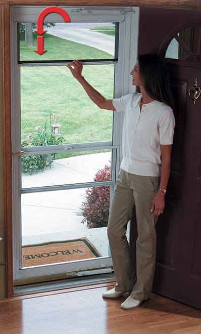 Storm doors windows chicago storm door window for Best rated retractable screen doors
