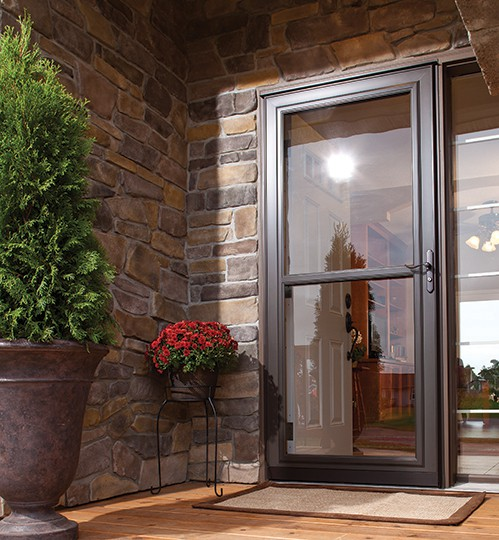 Decorating larson storm door retractable screen for Larson retractable screen door