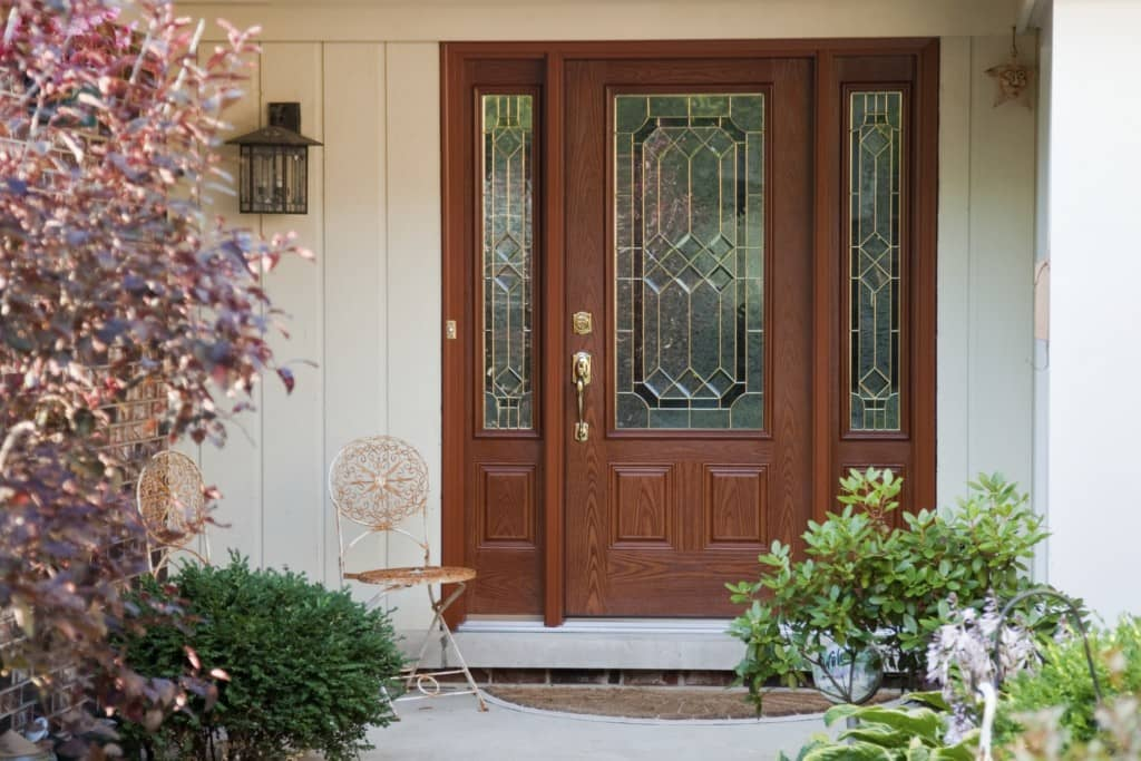 Replacement fiberglass entry doors american thermal window for Exterior doors and windows