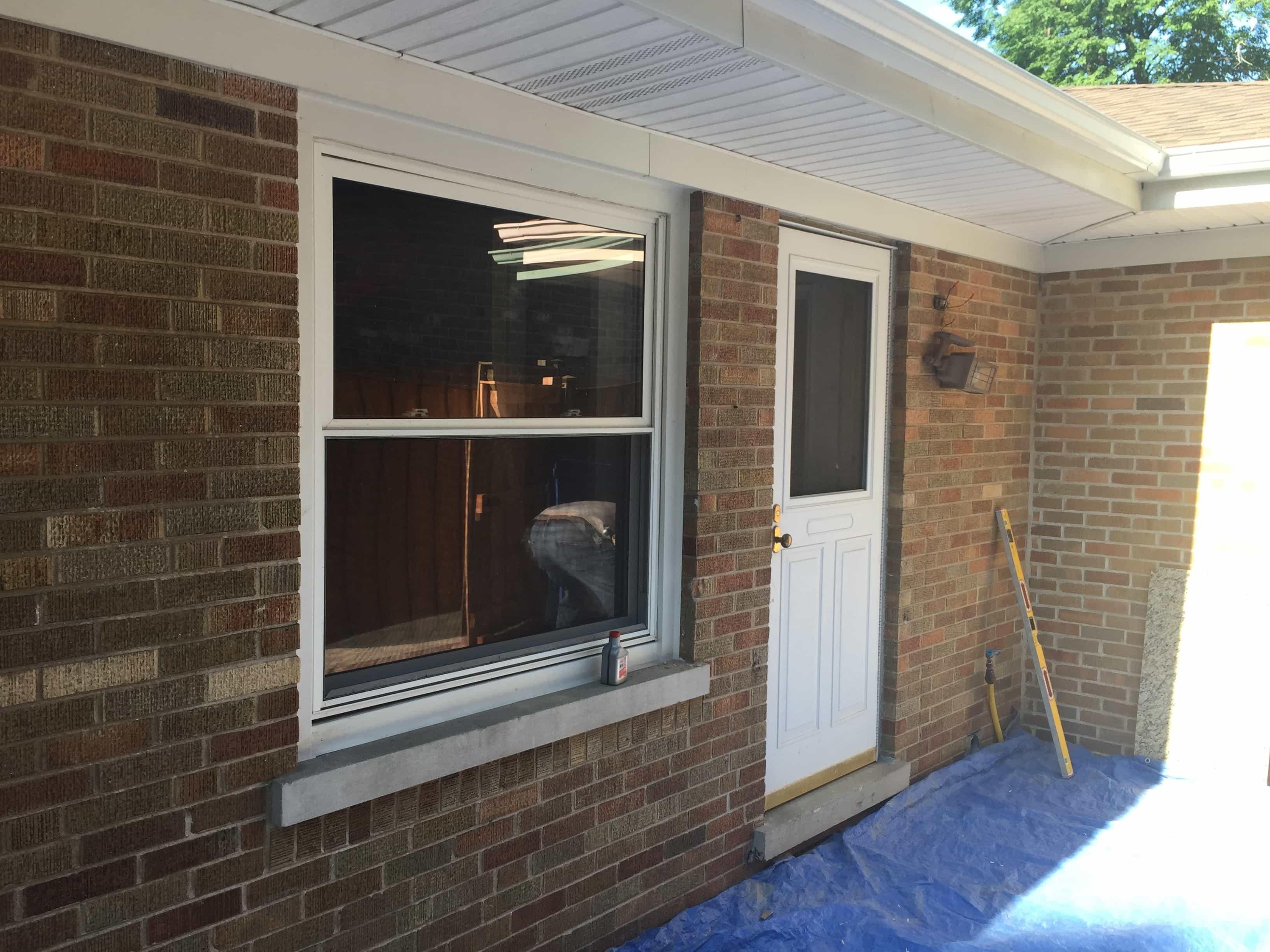 before window to door conversion
