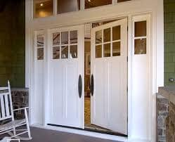 White Wood Entry Door